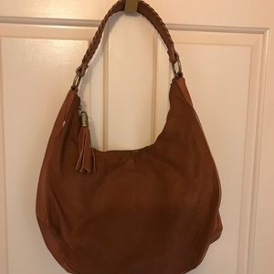 Brown Faux Swede Hobo